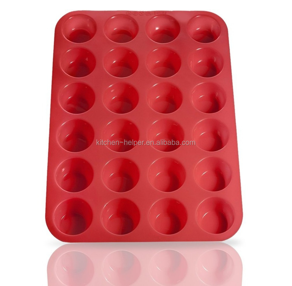 Custom BPA Free High Quality Cheap Non-stick Silicone Mini Muffin Cake/Silicone Bakeware Muffin Mold/Cupcake Baking Pan