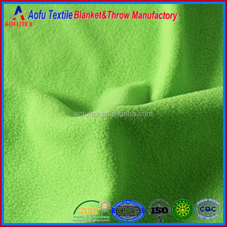 China supplier wholesale Hot sales cheap Polyester pure color antipilling Polar Fleece Fabric