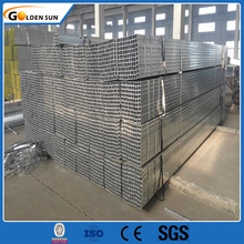 Goldensun-16112407 Galvanized steel/gi rectangular hollow section weight/carbon steel pipe price