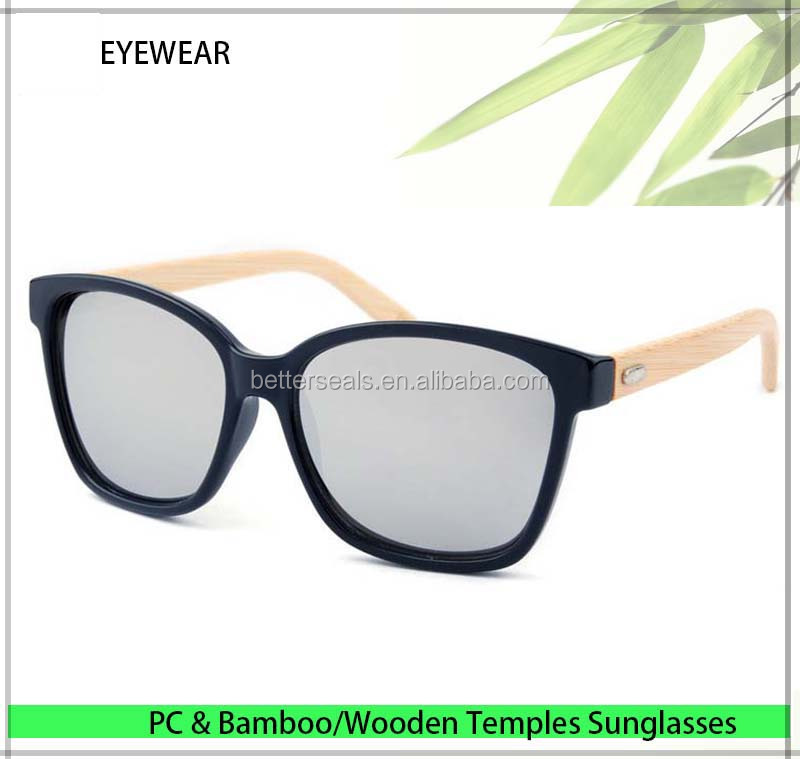 Big frame China Wholesale Bamboo Eyeglasses Private Label Wood Sun glasses