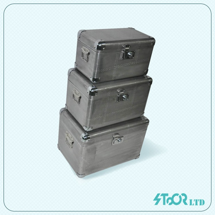 Supplier chinese deco aluminum skin antique airtight cheap metal box