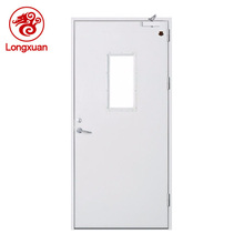 Certificated emergency exit double steel fire rated door functional glass door