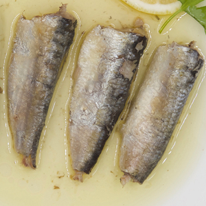 Canned sardine in brine oil stock canned fish 125g