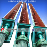 Ls 9m screw conveyor with hopper fot conveying coconut