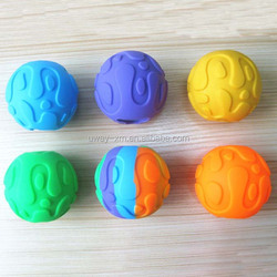 Unique design eco-friendly silicone pet food ball,pet activity ball