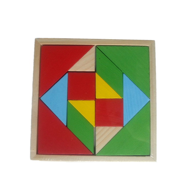 wholesaler colorful interesting wooden tangram puzzle,wooden jigsaw puzzle