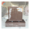 Imperial Carmine Granite Scroll Face And