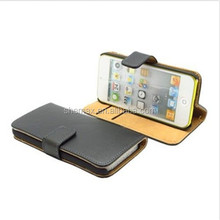 Cell Accessories Wallet Genuine Leather Case for iPod Touch 5 Cover Wholesale
