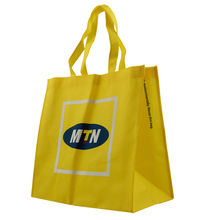 Wholesale yellow color non-woven fabric bag for shopping