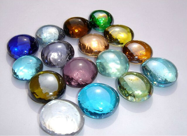 Clear Colored Marbles : Top quality flat glass marbles for home decoration buy
