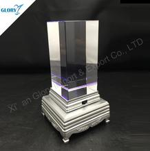 Blank Crystal Block For Engraving With Led Base