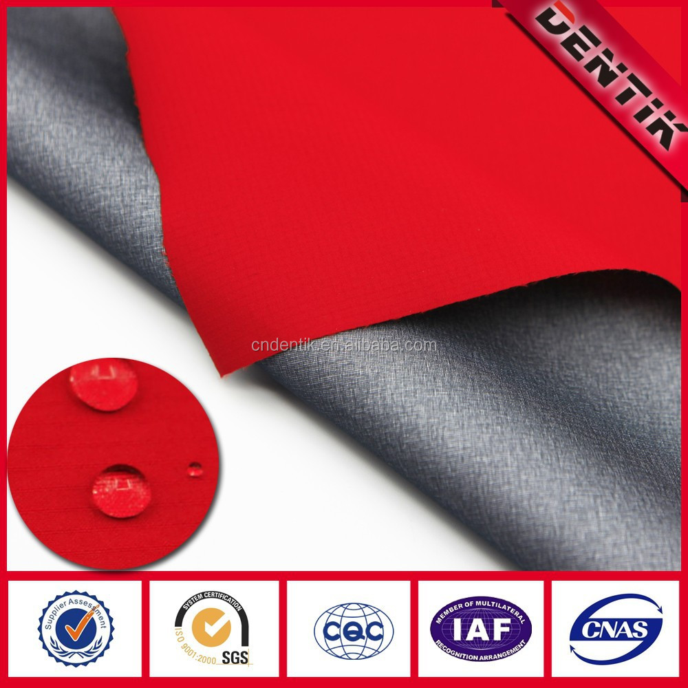 Ripstop Waterproof Breathable PTFE Laminated Polyester Fabric for Sports