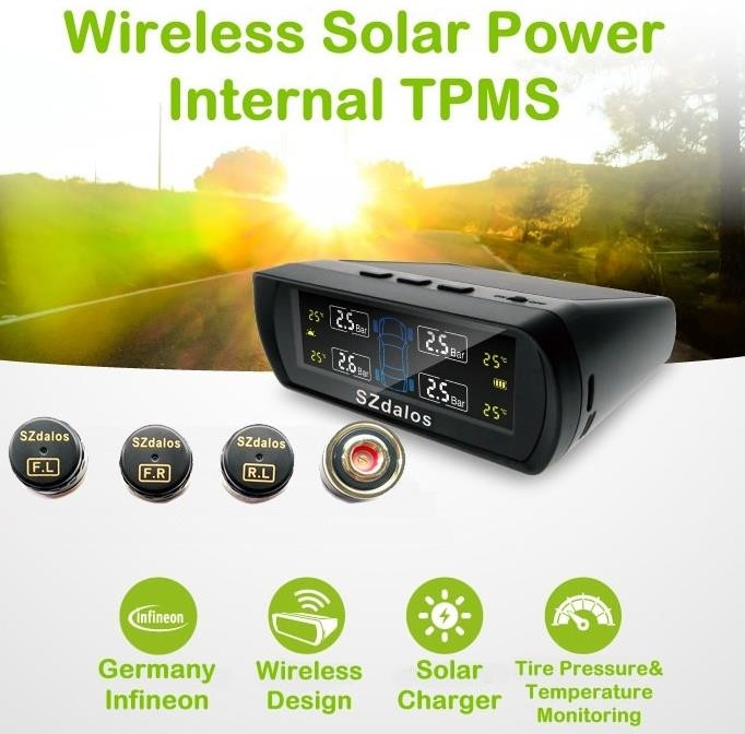Hohe qualität beste auto digitale pressure monitoring solar power externe tire pressure monitoring system