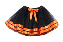 Wholesale Children's Boutique Orange Fluffy tutu Pettiskirt Halloween Costumes tutu skirts