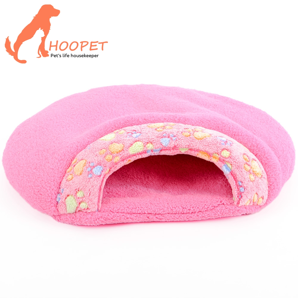 Funny Cheap Soft Warmer Sleep Foldable Plush Fabric Pillow Cotton Round Dog Bed Animal Cat Bed