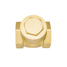 Professional customized horizontal type soft seal brass ball check valves