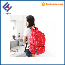 Full square pattern teens backpack bag school unique double zipper school bags for college students