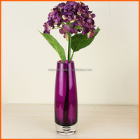 Hot selling customized wholesale purple glass vases