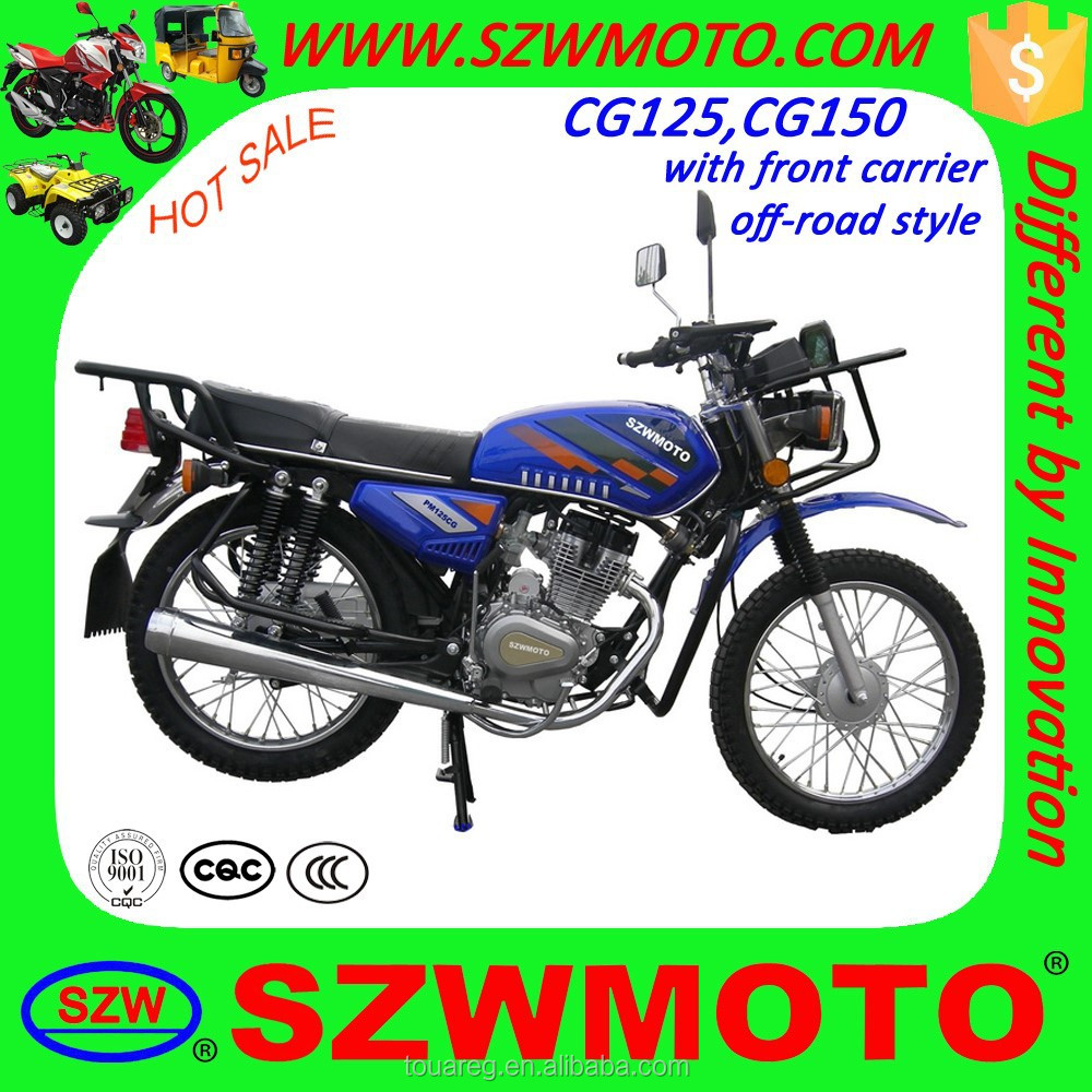 HOT SALE in africa Economic and off road CG KING CG125 CG150 street motorcycle with front carrier