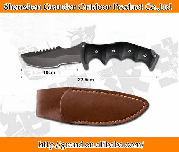 58HRC <strong>K10</strong> Handle tactical fixed blade knife 440C Steel knife hunting tools hand knife blade 5605