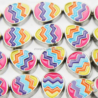 New products 2015 color egg charm for easter festival Locket Necklace