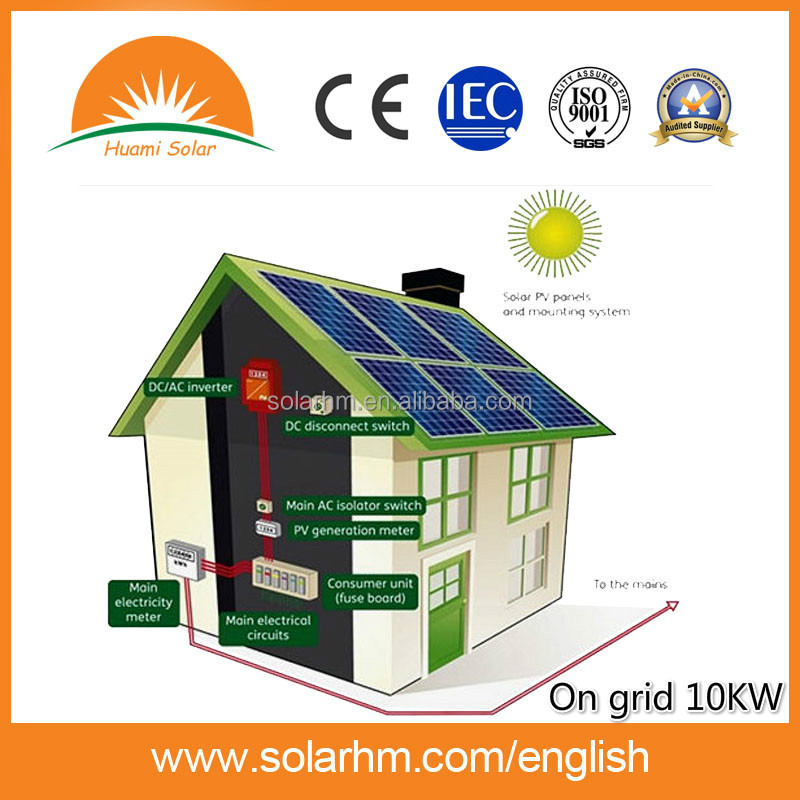 10kW on grid solar home system for residential solar <strong>energy</strong>