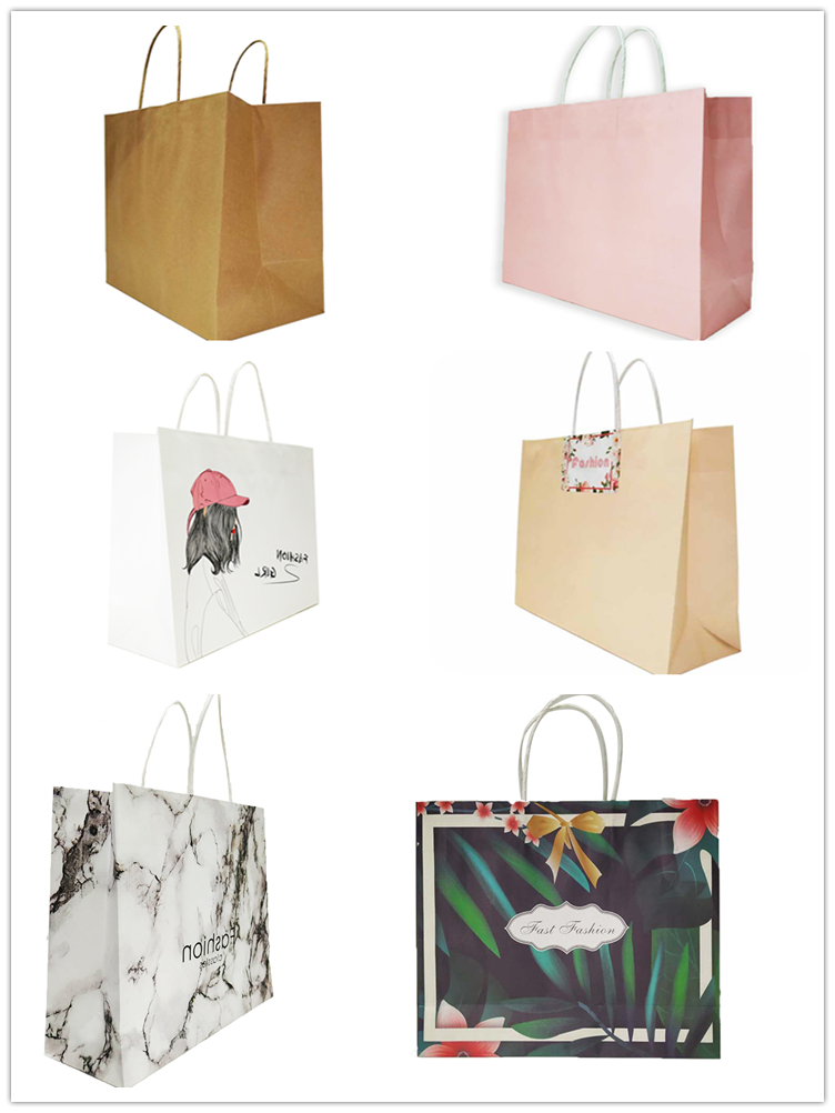 Guangzhou Gift Shopping Bag Elegant Green Rainforest Style Flower Paper Bag With Logo Print