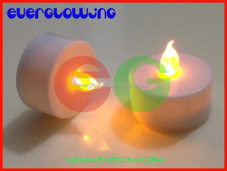 yellow LED candle light
