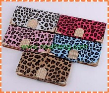 Luxury leopard pattern PU leather case for iPhone 6 Plus