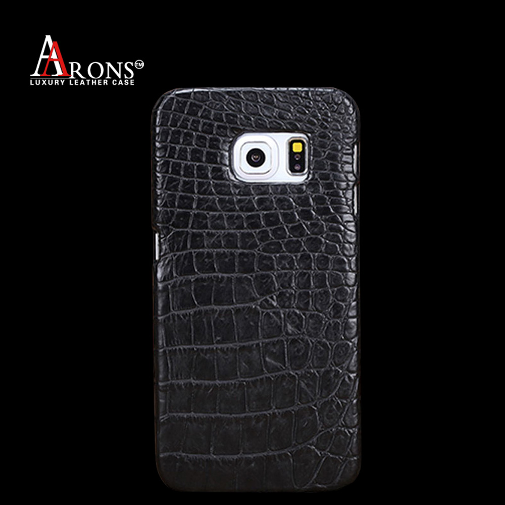 Crocodile Slim Back Cover leather flip case for samsung galaxy s6 edge