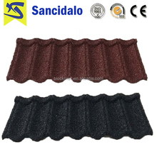 Colorful stone coated steel roofing shingles/stone coated metal roof tile