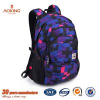 College hot sale print active book casual school bags lowest price/.