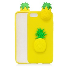 Custom Design Pineapple 3D Silicone Soft Phone Case Cover for iphone 6 7 8 X