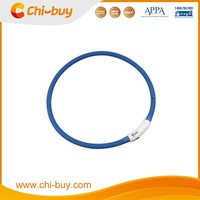 Chi-buy High Quoatity Blue USB LED Dog Collar Rechargeable LED Dog Loop Free Shipping on order 49usd