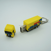 Custom Car-shaped USB flash drives with key ring