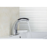 New Waterfall Chrome Touch Free Automatic Sensor Tap Sink Hot Cold Mixer Faucet