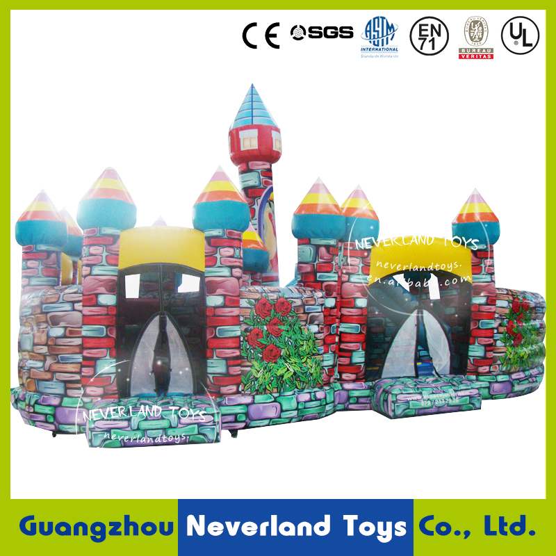 NEVERLAND TOYS Inflatable Castle and Fun City Inflatable Rose Fun City Outdoor Inflatable Toys for Kids