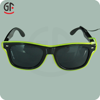 Hot New Party Favor Products Light Up Half Frame Flashing EL Wire Sunglasses For Night Walking