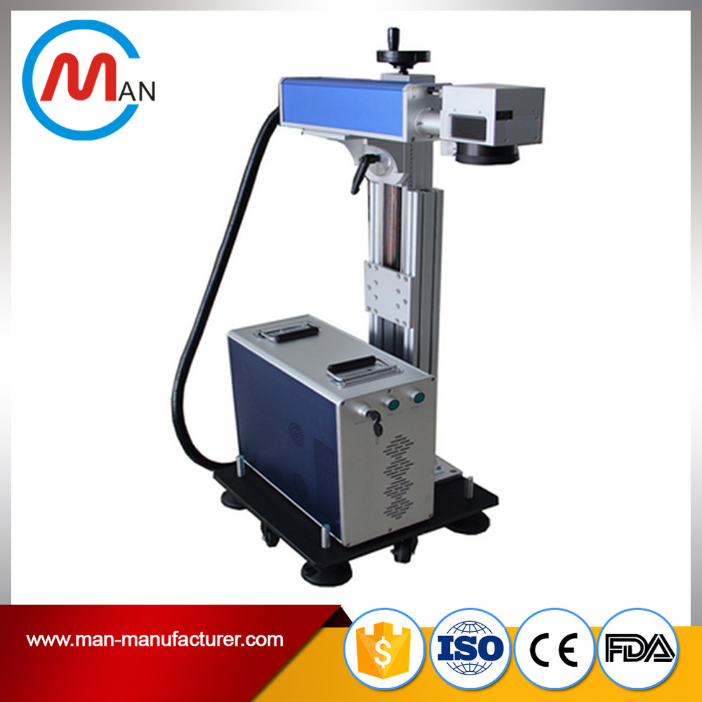 High power fiber flying laser marking machine id tag stainless steel