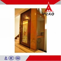 6 Person Building residential 400kg home lift glass elevator