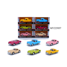 3 StyleS Open Door Car 1:32 Pull Back Die Cast Vintage Car with light and sounds