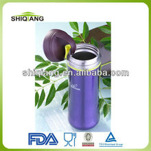 350ml slim waist vacuum lady tea bottles with tea filter carabiner lid and steel ring used for outdoor exercise