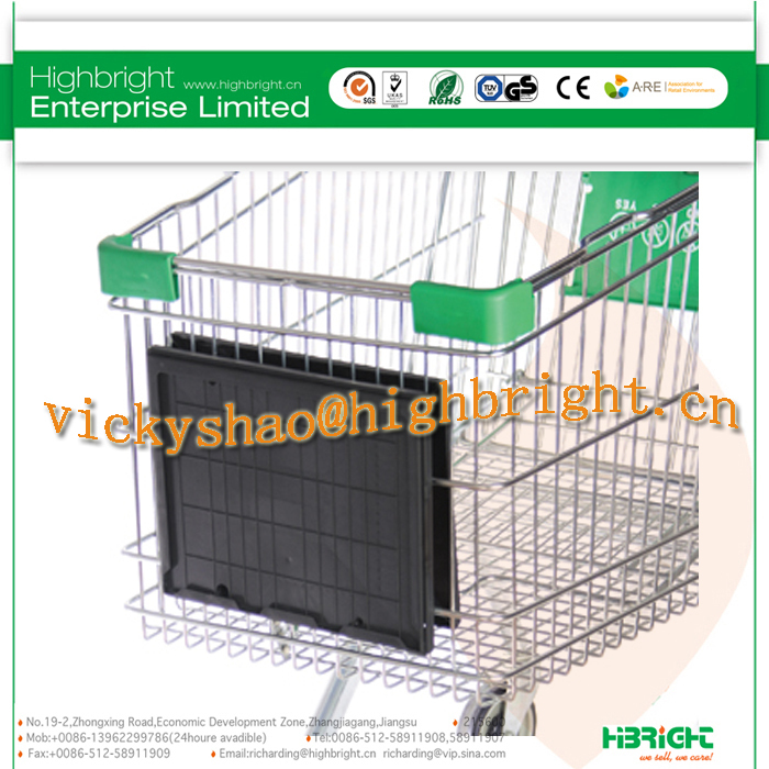 shopping trolley handle tube for replacement with advertising paper