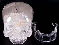 Beautiful new design life-size crystal skull for Hallween as a gift