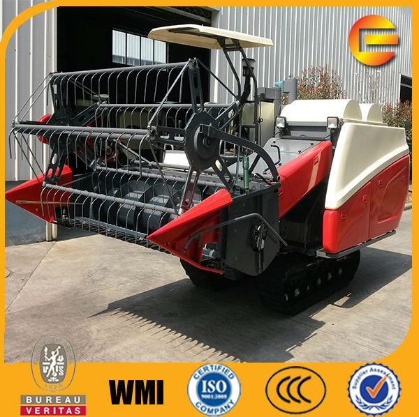crawler track type rice farming harvesting machine