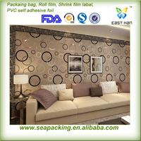 PVC self adhesive wall paper beautiful sticker for TV background wall decoration