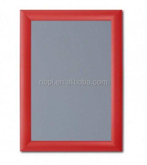 2015 hot sales aluminum MDF/PS board red/black/gold/silver snap frame