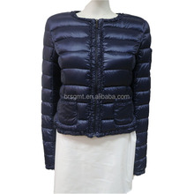 2014 women newest short style round neck oadded duck down jacket for winter