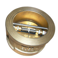 Brass Body Rubber Seat Double Plate Wafer Type Check Valve