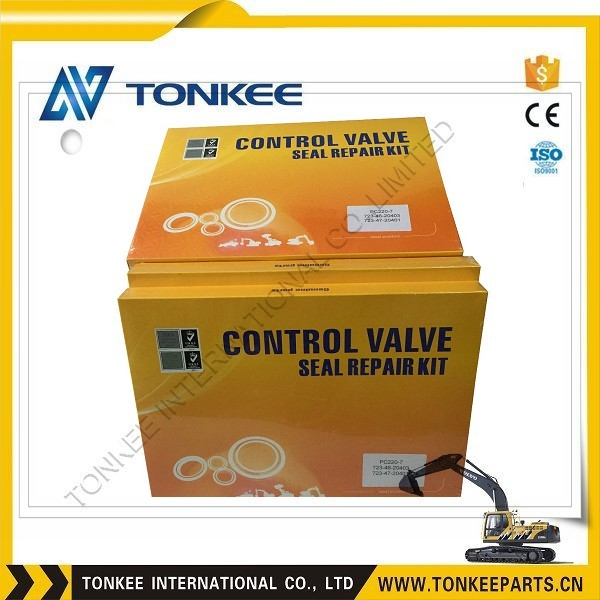 High quality Control Valve Seal Repair Kit for excavator, DH220-5 Control Valve Seal Kit